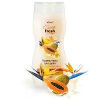 Exotic Fresh - КРЕМ-ГЕЛЬ для душа Папайя и Райский Цветок с соком папайи 300мл