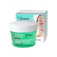 Happy Time маски для лица - Маска УВЛАЖНЯЮЩАЯ гидрогелевая с гиалуроновой кислотой и изумрудными водорослями для лица, ночная
