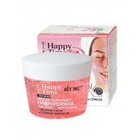 Happy Time маски для лица - МАСКА-АНТИСТРЕСС гидрогелевая с муцином улитки и розовым гибискусом для лица, ночная