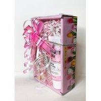Подарочный набор Розовый - тюльпаны