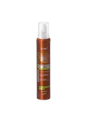Keratin Styling - Пена для укладки волос с жидким кератином суперсильной фиксации