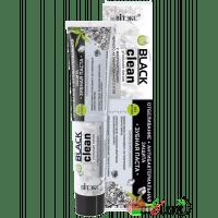 BLACK CLEAN - Зубная паста ОТБЕЛИВАНИЕ +АНТИБАКТЕРИАЛЬНАЯ ЗАЩИТА с микрочастицами черного активированного угля и серебром