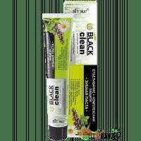 BLACK CLEAN - Зубная паста ОТБЕЛИВАНИЕ + КОМПЛЕКСНАЯ ЗАЩИТА с микрочастицами черного активированного угля и лечебными травами