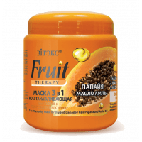 Fruit Therapy - МАСКА 3 в 1 ВОССТАНАВЛИВАЮЩАЯ для сухих и поврежденных волос «Папайя, масло амлы»